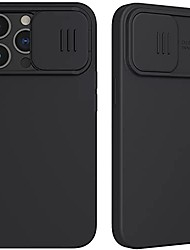 cheap -case for iphone13/pro/promax/13mini,with slide camera cover silky liquid silicone case with camera lens protection with full body protection anti-scratch shockproof,black,iphone13promax