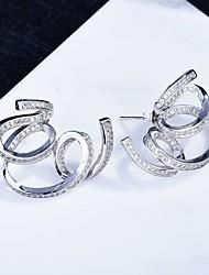 cheap -Women's Stud Earrings Drop Earrings Hoop Earrings Classic Flower Joy Fashion Classic Modern Korean Sweet Earrings Jewelry Silver For Party Street Gift Daily Holiday 1pc / Mismatch Earrings