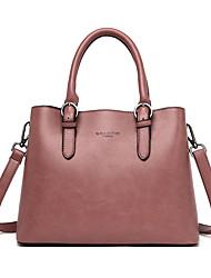 cheap -Women's Bags PU Leather Crossbody Bag Top Handle Bag Zipper Plain Solid Color Vintage Daily Outdoor Retro Leather Bag Handbags Wine Purple Gray Khaki