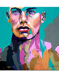 cheap -Oil Painting Handmade Hand Painted Wall Art Modern Abstract Francoise Nielly Palette Knife Portrait Face Figure Posters Home Decoration Decor Rolled Canvas No Frame Unstretched