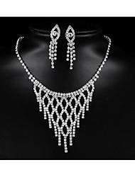 cheap -Women's Cubic Zirconia Bridal Jewelry Sets Geometrical Flower Fashion Earrings Jewelry White For Party Wedding Holiday Festival 1 set