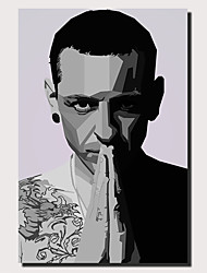 cheap -1 Panel Wall Art Canvas Prints Painting Artwork Picture Chester Bennington Musicain Painting Home Decoration Decor Rolled Canvas No Frame Unframed Unstretched