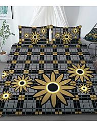 cheap -Print Home Bedding Duvet Cover Sets Soft Microfiber For Kids Teens Adults Bedroom Flower 1 Duvet Cover 1/2 Pillowcase Shams