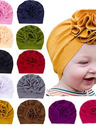 cheap -12 Pcs/set Lovely Bloom Flower Baby Hat Kids Elastic Headband Baby Turban Hats for Girls Bullet Fabric Headwrap Infant Babes Beanie Caps Hair Accessories