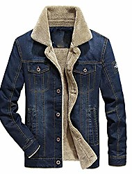 cheap -men's fleece bomber jacket winter military coat casual stand collar cotton cargo outwear overcoat (navy blue,6x-large)