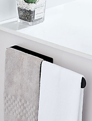 cheap -Stainless Steel Towel Storage Holder Punch Free Black Towel Rack Towel Hanger Bathroom Paper Holder