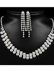 cheap -Women's Cubic Zirconia Bridal Jewelry Sets Geometrical Flower Shape Fashion Earrings Jewelry White For Party Wedding Gift Festival 1 set