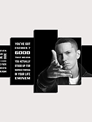 cheap -5 Panels Wall Art Canvas Prints Painting Artwork Picture EMINEM QUOTES Painting Home Decoration Decor Rolled Canvas No Frame Unframed Unstretched