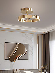cheap -40 cm  Lantern Design Flush Mount CeilingLight LED Stainless Steel Electroplated Painted Finishes Modern 220-240V