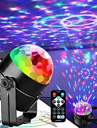 cheap -7 Color DJ Strobe Led Disco Ball 3W Sound Control Laser Projector RGB Stage Light Effect Light Music Christmas Party Bedroom Decor Halloween Gift