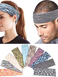cheap -10 Pcs/set High Elastic Sports Headband Running Quick-drying Hairband Fitness Exercise Yoga Sweat Guide Belt Antiperspirant Belt