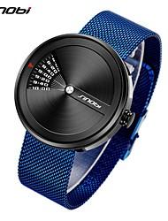cheap -Sinobi Creative Men's Wristwatch Fashion Luxury Stainless Steel Mesh Strap Watch Male Business Digital Clock Relogio MasculinoSinobi Creative Men's Wristwatch Fashion Luxury Stainless Steel Mesh Str