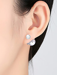 cheap -Women's Earrings Geometrical Blessed Simple Luxury Elegant Romantic Earrings Jewelry White For Wedding Gift Daily Holiday Festival 1 Pair
