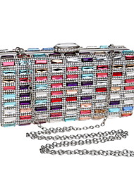 cheap -Women's Bags Acrylic Polyester Evening Bag Chain Party / Evening Daily Retro Evening Bag Chain Bag Rainbow