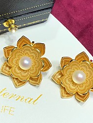 cheap -Men's Women's Pearl Brooches Retro Flower Stylish Luxury Fashion Victorian Sweet Brooch Jewelry Golden For Wedding Engagement Prom Work Festival