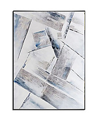 cheap -Oil Painting Handmade Hand Painted Wall Art Modern Geometry Abstract Picture Home Decoration Decor Rolled Canvas No Frame Unstretched