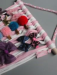cheap -Ins Baby Hairpin Storage Belt Children's Hair Accessories Storage Strip Girls Finishing Belt Flower Headwear