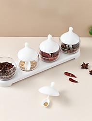 cheap -Kitchen Seasoning Jar Household Spoon Cover Integrated Seasoning Box Seasoning Storage Box Seasoning Box Combination Set