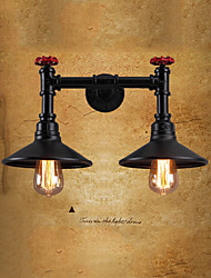 cheap -Creative Vintage Wall Lamps Wall Sconces Flush Mount Wall Lights LED  Indoor Living Room Shops / Cafes Iron Wall Light IP24 220-240V