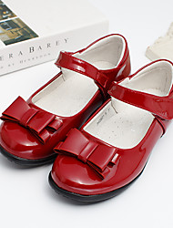 cheap -Girls' Flats Formal Shoes School Shoes Patent Leather Breathability Big Kids(7years +) Little Kids(4-7ys) Birthday School Magic Tape Wine Fall Winter