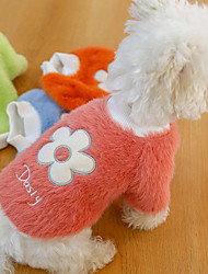 cheap -Dog Cat Sweatshirt Patterned Flower Adorable Cute Dailywear Casual / Daily Winter Dog Clothes Puppy Clothes Dog Outfits Soft Pink Green Orange Costume for Girl and Boy Dog Cotton XS S M L XL