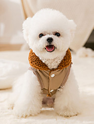 cheap -the new autumn and winter warmth and thickened dog simple two-legged cotton-padded clothes for small and medium-sized dogs and cats two-legged fleece pet clothes