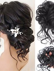 cheap -Synthetic Chignon Messy Scrunchies Elastic Band Hair Bun Curly Updo Hairpiece High Temperture Fiber Natural Fake Hair