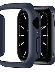 cheap -compatible for apple watch case 41mm series 7, shockproof ultra-thin hard pc bumper case all-around edge protective cover frame[no screen protector] for iwatch accessories, blue