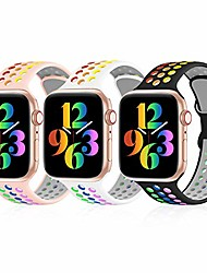 cheap -3 pack sport bands compatible with apple watch bands38mm 40mm 41mm breathable soft silicone sport wristbands replacement strap compatible with iwatch series se/6/5/4/3/2/1/7 women me