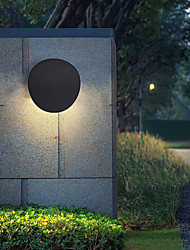 cheap -Matte LED Nordic Style LED Wall Lights Outdoor Wall Lights Indoor Bedroom Dining Room Aluminium Alloy Wall Light 220-240V 7 W