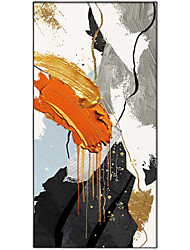 cheap -Oil Painting Handmade Hand Painted Wall Art Modern Orange Black White Abstract Picture Home Decoration Decor Rolled Canvas No Frame Unstretched