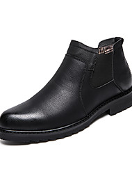 cheap -Men's Unisex Boots Business Casual Classic Daily Party & Evening Synthetics Booties / Ankle Boots Black Fall Winter