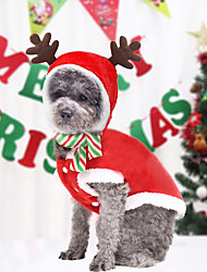 cheap -Dog Clothes Christmas Dress Up Small And Medium-sized Dog Cat Pet Clothes Supplies Autumn And Winter