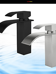 cheap -Bathroom Sink Faucet - Waterfall Stainless Steel Other Single Handle One HoleBath Taps