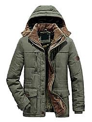 cheap -men's loose winter fleece lined padded hoodie ski jacket coat outercoat (1167-army green-xs)