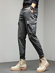 cheap -Men's Chic & Modern Cargo Moisture Wicking Breathable Pants Tactical Cargo Pants Solid Color Full Length Pocket Elastic Waist ArmyGreen Khaki Black Dark Gray
