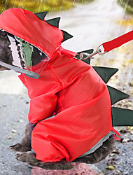 cheap -Dog Transparent Raincoat Dinosaur Four-legged Raincoat All-inclusive Dog Cat Rain Coat Animal Fashion Classic Puppy Clothes Dog Outfits Waterproof for Girl and Boy Dog