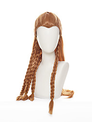 cheap -2021 New Game Genshin Impact Aloy Brown Long Braids Wig Cosplay Costume Heat Resistant Synthetic Hair Women Wigs