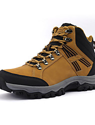 cheap -Men's Hiking Shoes Sneakers Hiking Boots Thermal Warm Shock Absorption Wearable Comfortable Hunting Fishing Hiking Leatherette Spring, Fall, Winter, Summer Black / Red Yellow Grey