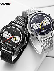 cheap -Sinobi Fashion Men Watches Stainless Creative Design Man Sports Chronograph Quartz Clock Stainless Steel Waterproof Watch reloj