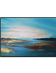 cheap -Oil Painting Handmade Hand Painted Wall Art Modern Simple Gold Foil Landscape Abstract Home Decoration Decor Stretched Frame Ready to Hang