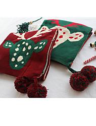 cheap -Women's Shawls & Wraps Christmas Red Scarf Deer Green Fall Winter