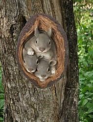 cheap -Squirrel Animal Figurine Miniatures Fairy Garden Ornaments Home Decoration Friends Gift Bonsai Decor