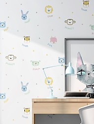 cheap -Wallpaper Wall Covering Sticker Film Peel And Stick Embossed Stripe Children's Environmental Cartoon Avatar Stripes Non Woven Home Deco 53*1000CM