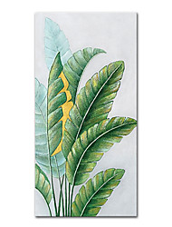 cheap -Oil Painting Handmade Hand Painted Wall Art Mintura Modern Abstract Banana Leaf Pictures Home Decoration Decor Rolled Canvas No Frame Unstretched