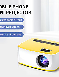 cheap -New T20 Mini Projector 500LM Lumens 1920*1080P Supported LED Video Beamer For Mobile Phone Mirroring Android Optional Projector