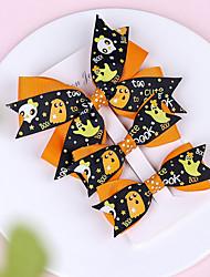 cheap -5 pcs/set Children's Headdress Halloween Bow Hairpin Baby Dovetail Pumpkin Head Baby Clip