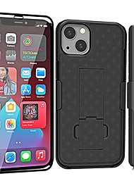 cheap -compatible with iphone 13 mini case, iphone13 mini holster with screen protector, swivel belt clip, kickstand holder, slim shockproof shell slide phone case for iphone 13 mini 5.4 inch -black