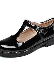 cheap -Girls' Flats Flower Girl Shoes School Shoes Patent Leather Big Kids(7years +) Wedding Daily Buckle Burgundy Black Beige Fall Spring / Rubber