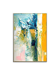 cheap -Oil Painting Handmade Hand Painted Wall Art Modern Colorful Landscape Abstract Gift Home Decoration Decor Stretched Frame Ready to Hang